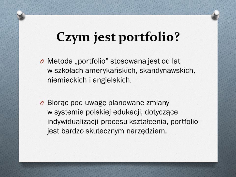 """Czym jest portfolio Metoda """"portfolio stosowana jest od lat w szkołach amerykańskich, skandynawskich, niemieckich i angielskich."""