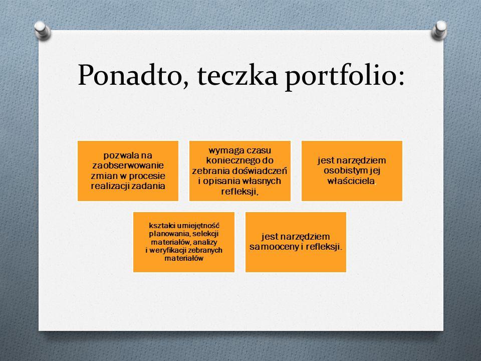 Ponadto, teczka portfolio: