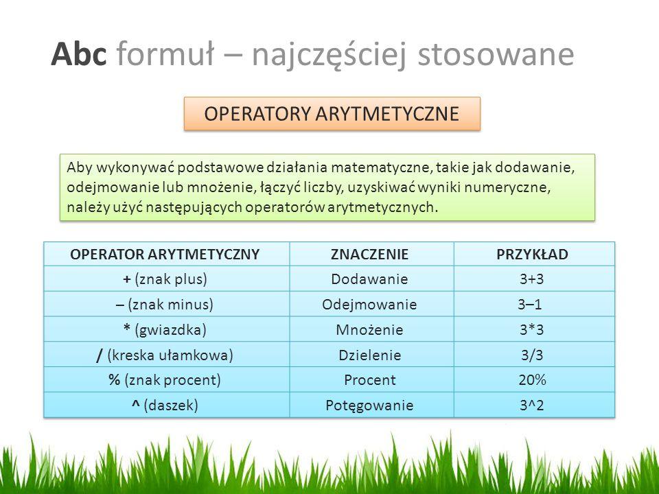 OPERATOR ARYTMETYCZNY