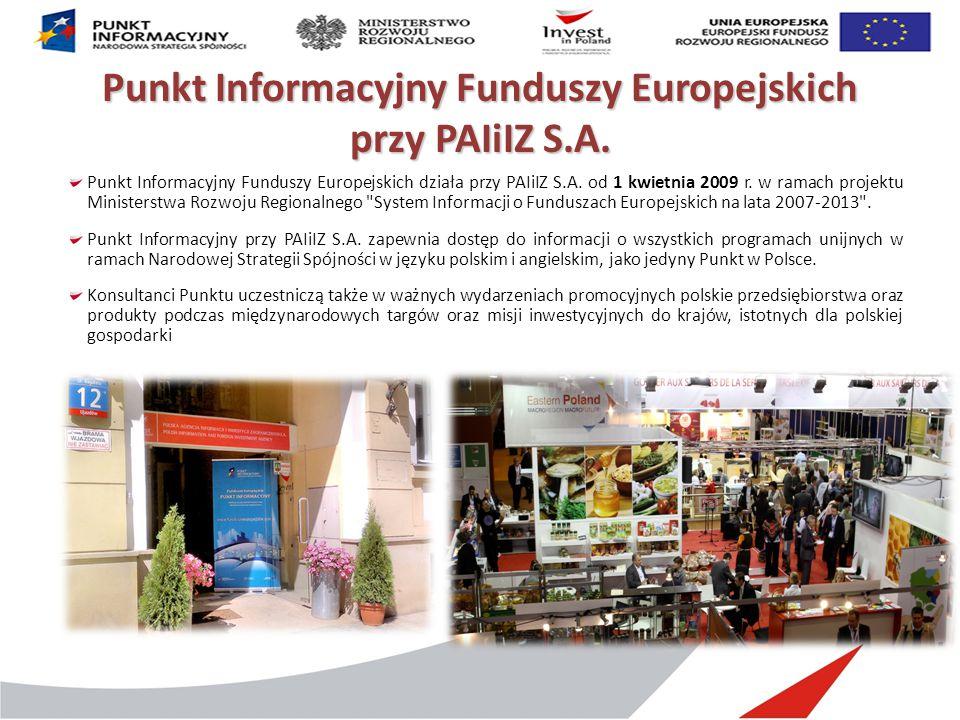 Punkt Informacyjny Funduszy Europejskich przy PAIiIZ S.A.