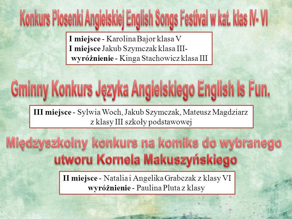 Konkurs Piosenki Angielskiej English Songs Festival w kat. klas IV- VI