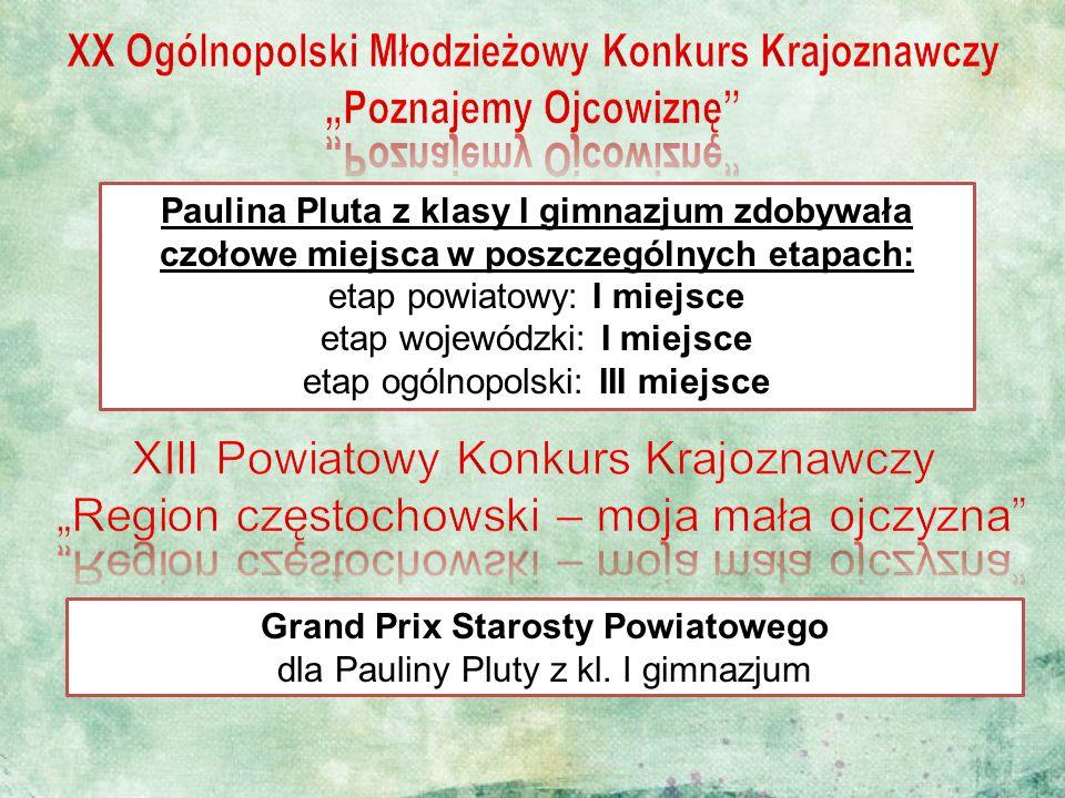 """XX Ogólnopolski Młodzieżowy Konkurs Krajoznawczy """"Poznajemy Ojcowiznę"""