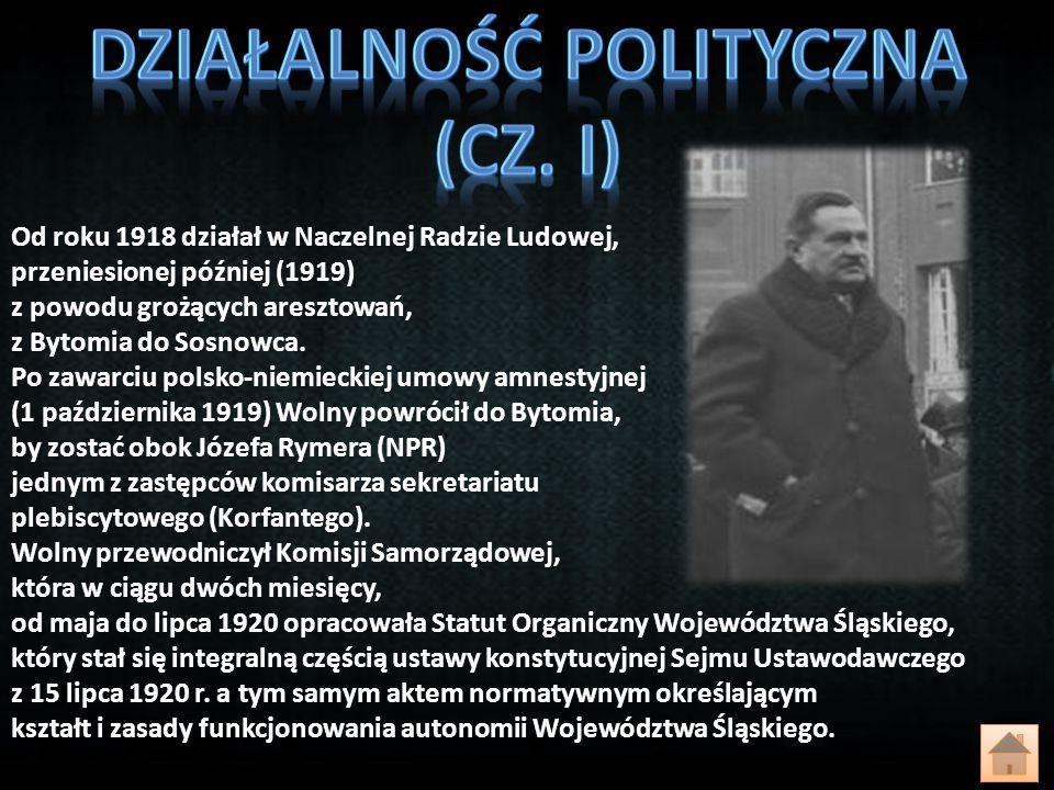 Działalność polityczna (CZ. i)