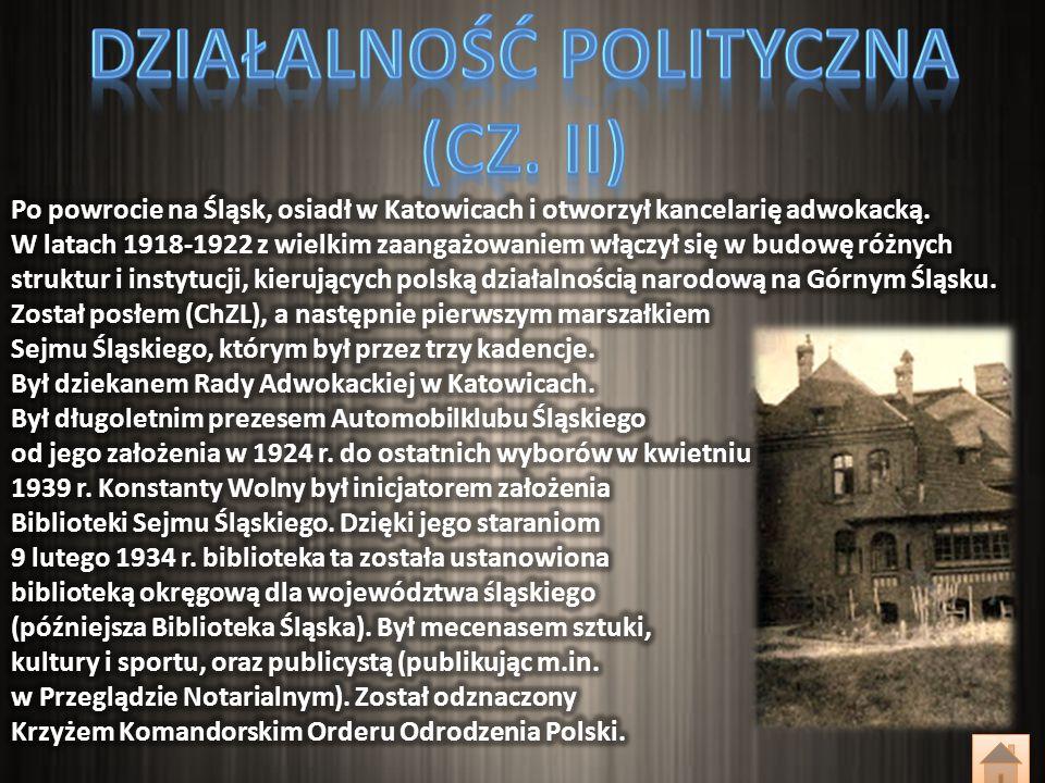Działalność polityczna (cz. II)