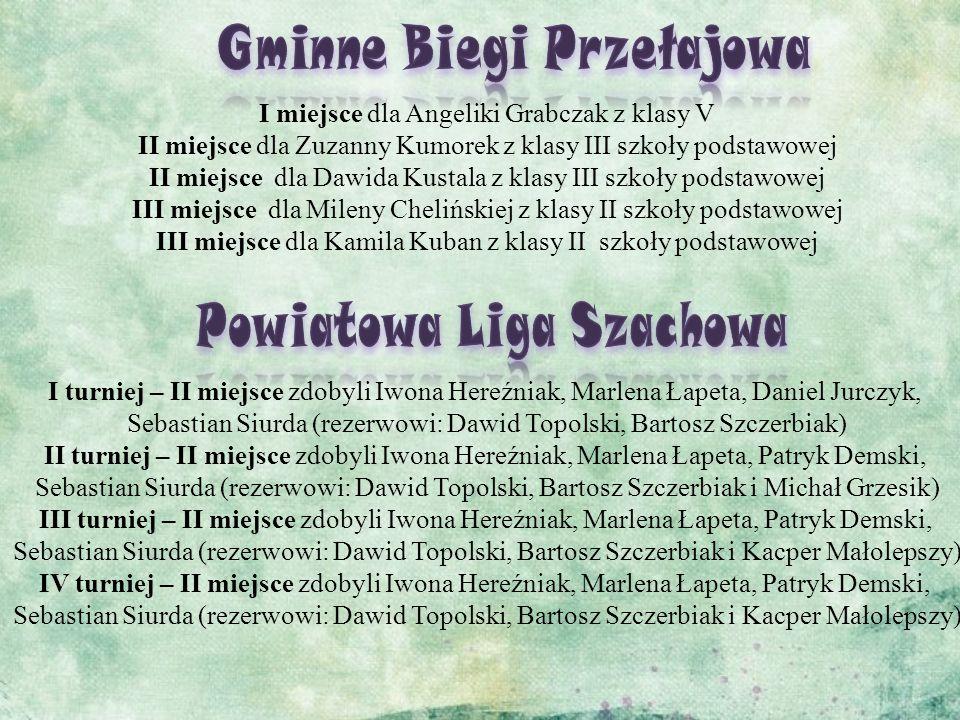 Gminne Biegi Przełajowa Powiatowa Liga Szachowa