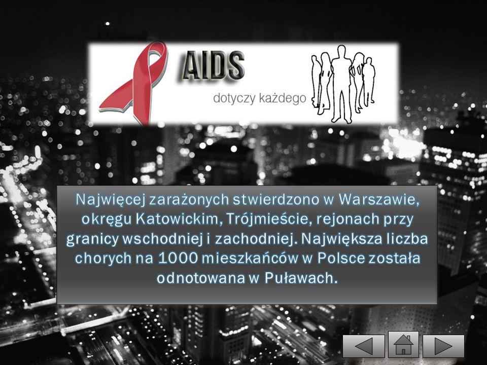 Najwięcej zarażonych stwierdzono w Warszawie, okręgu Katowickim, Trójmieście, rejonach przy granicy wschodniej i zachodniej.