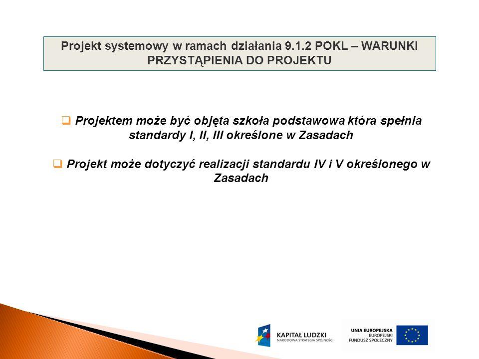Projekt systemowy w ramach działania 9. 1