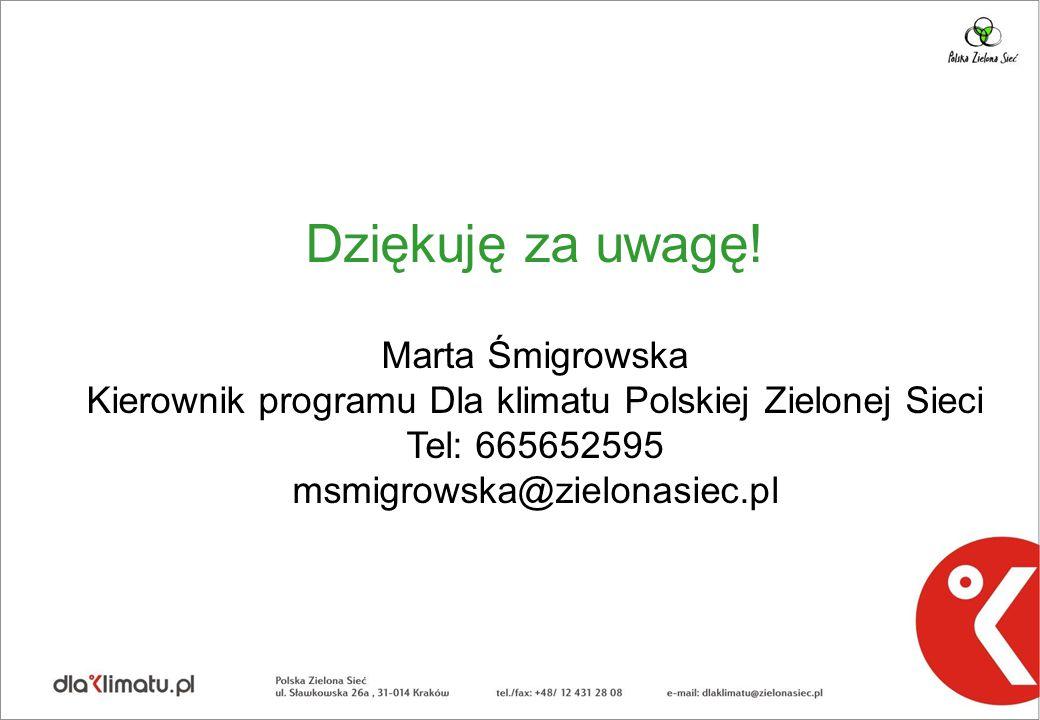 Kierownik programu Dla klimatu Polskiej Zielonej Sieci