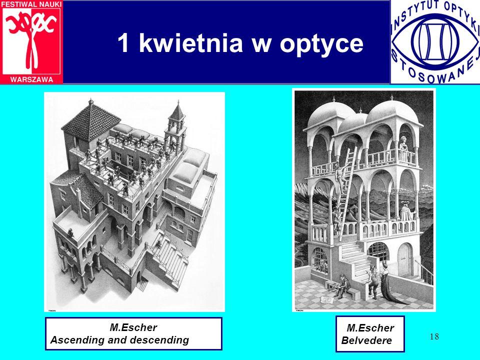 1 kwietnia w optyce M.Escher Ascending and descending