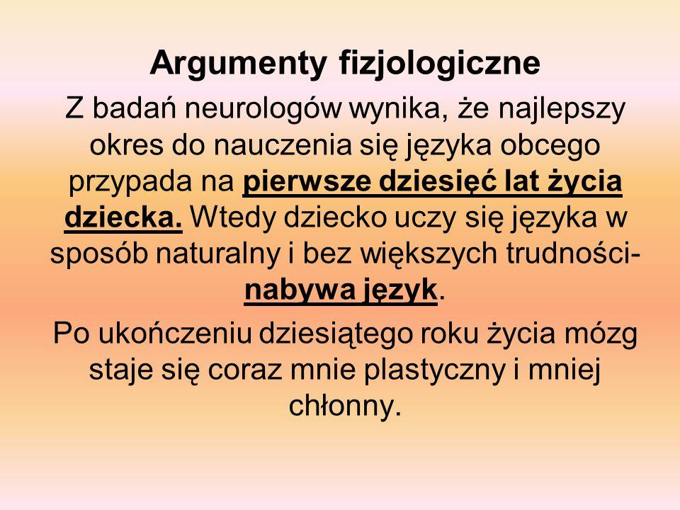 Argumenty fizjologiczne