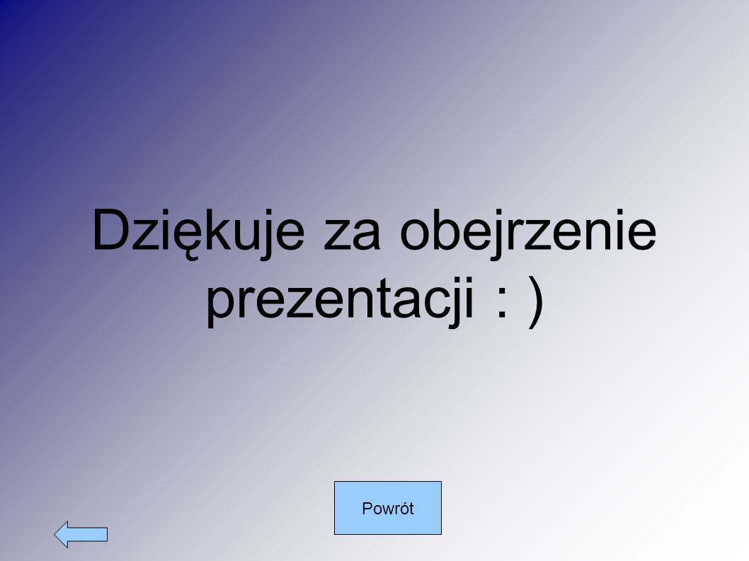Dziękuje za obejrzenie prezentacji : )