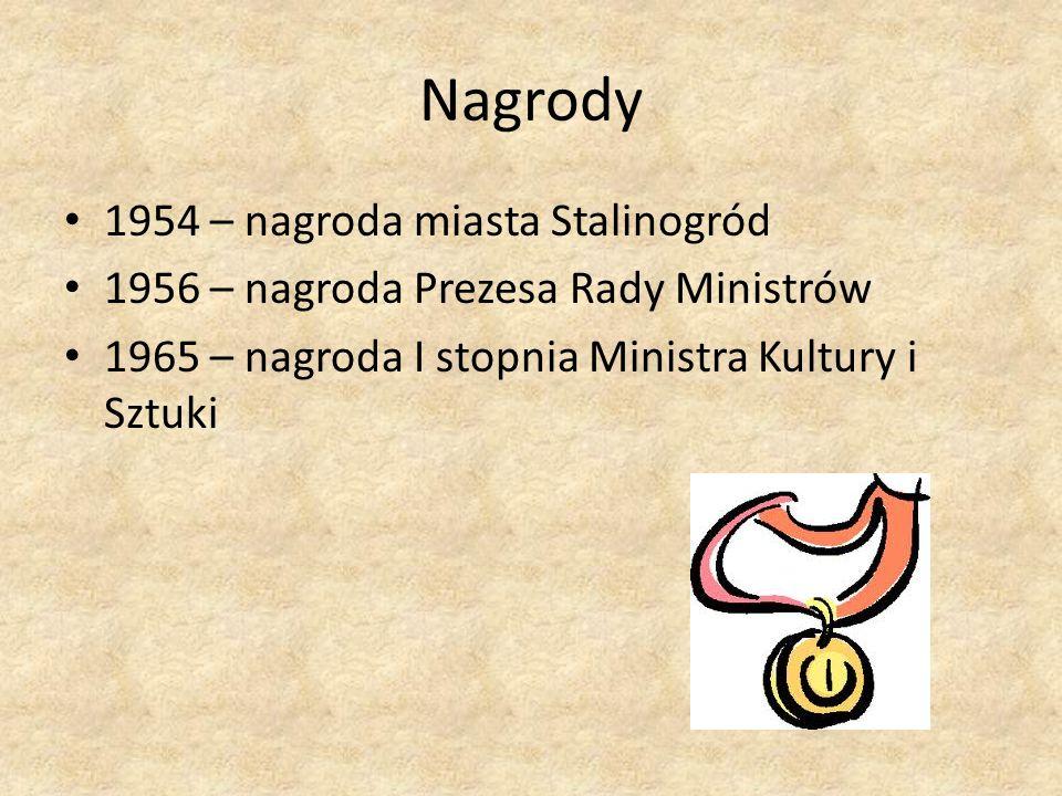 Nagrody 1954 – nagroda miasta Stalinogród