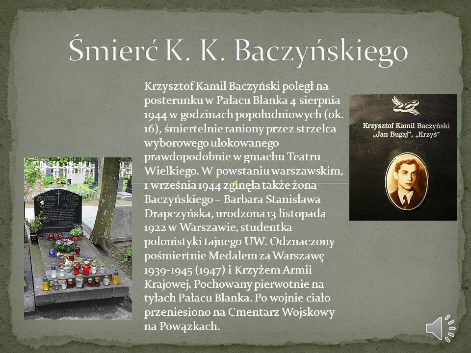 Śmierć K. K. Baczyńskiego