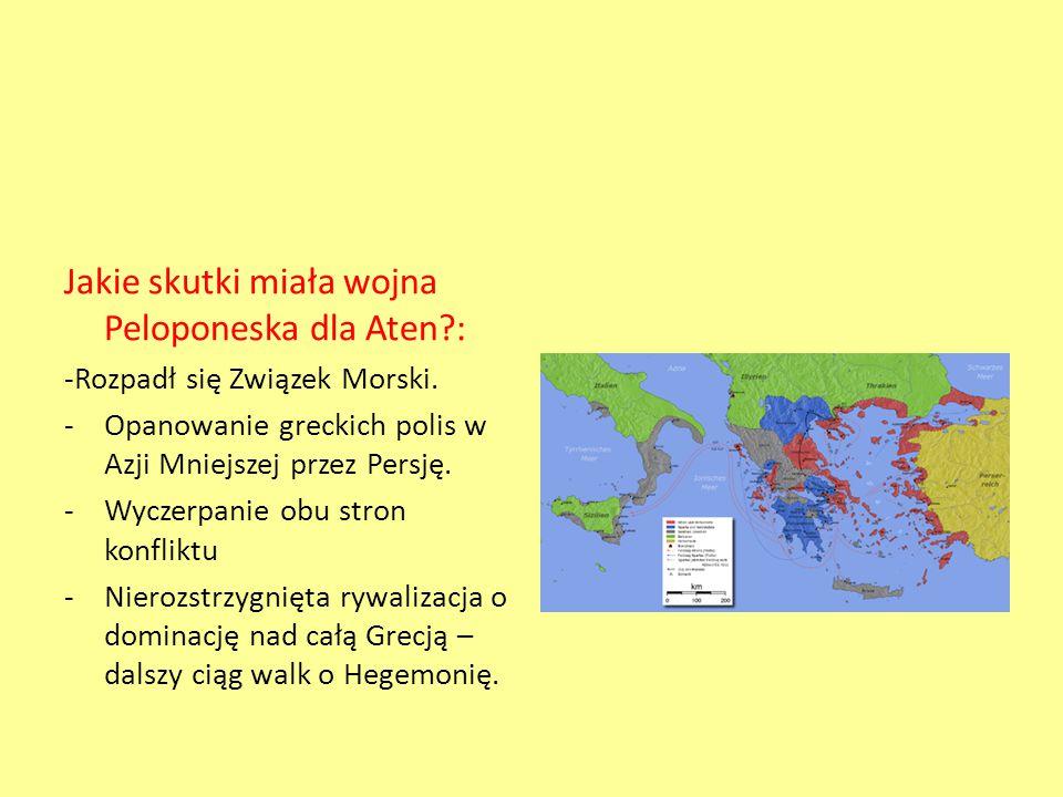 Jakie skutki miała wojna Peloponeska dla Aten :