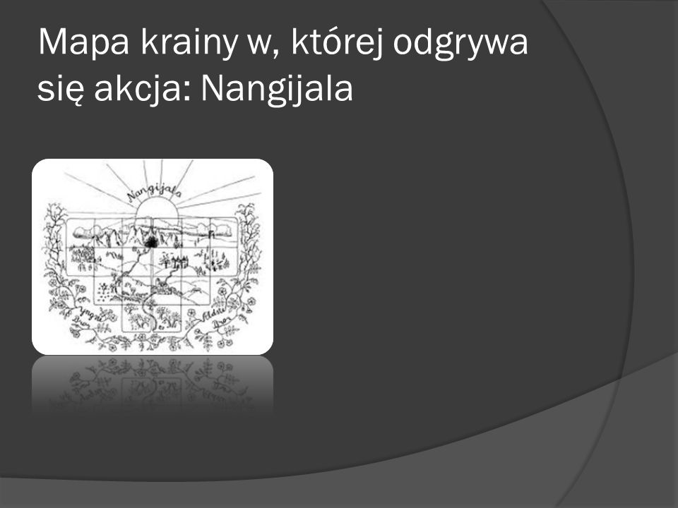 Mapa krainy w, której odgrywa się akcja: Nangijala