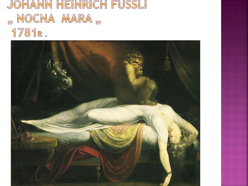 """Johann Heinrich Füssli """" Nocna Mara """" 1781r ."""