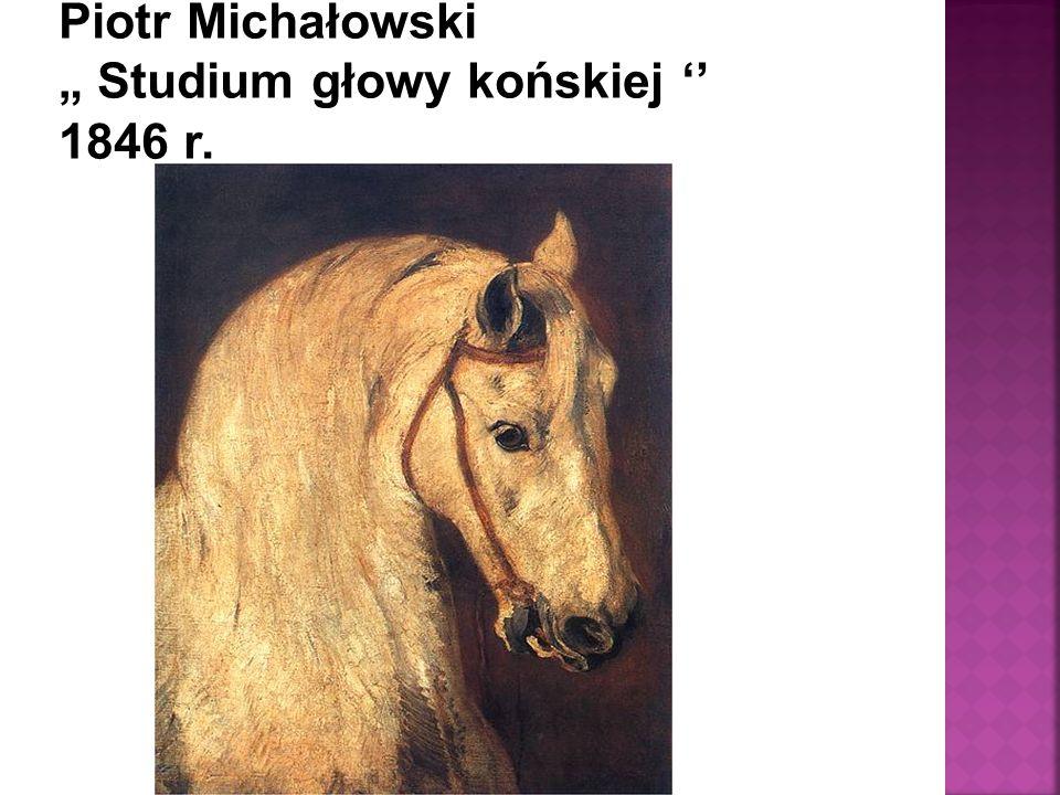 """Piotr Michałowski """" Studium głowy końskiej '' 1846 r."""