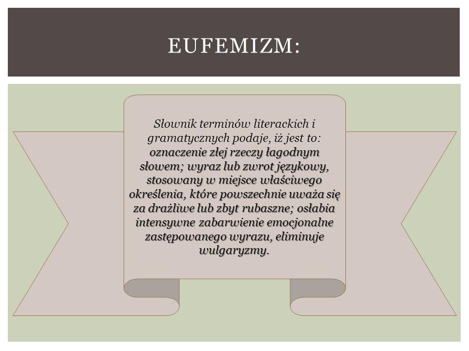 Eufemizm: