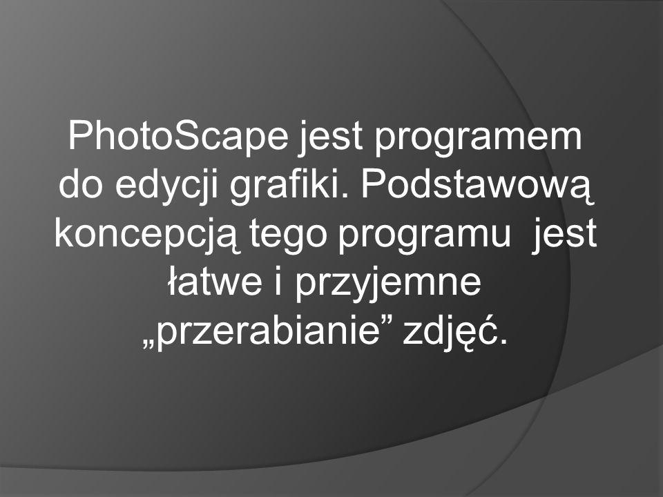 PhotoScape jest programem do edycji grafiki