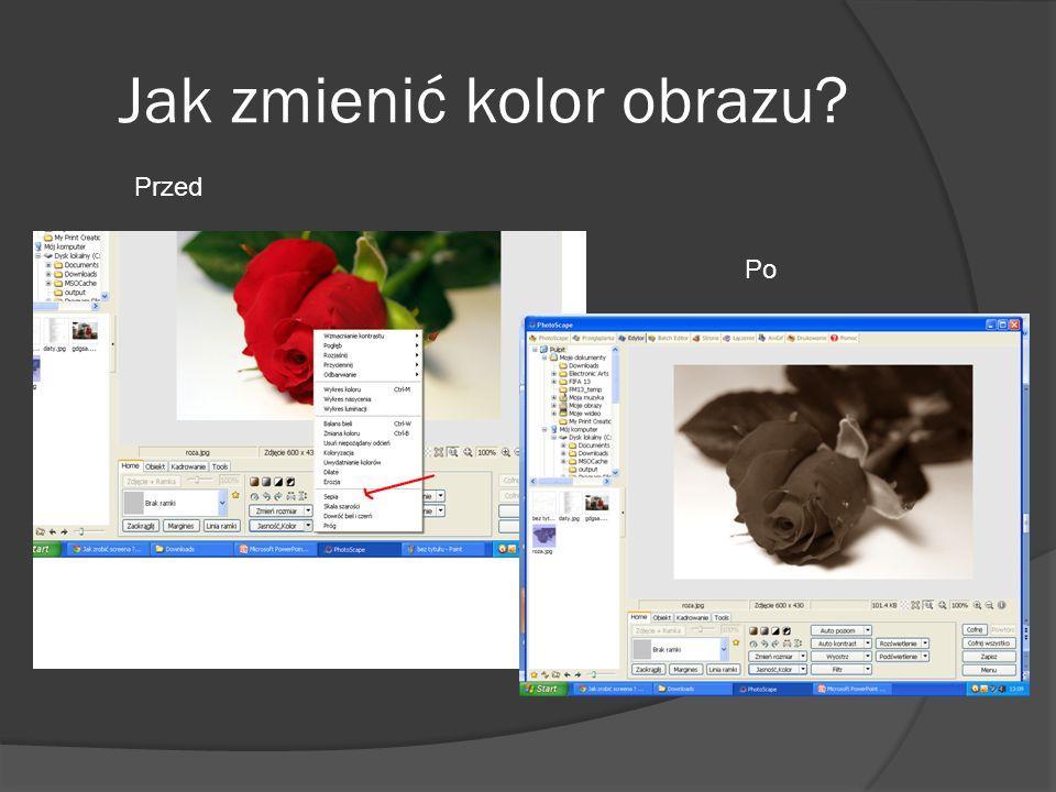 Jak zmienić kolor obrazu