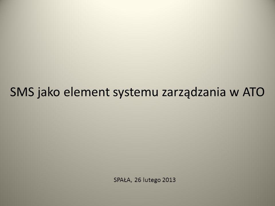 SMS jako element systemu zarządzania w ATO