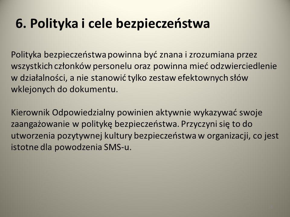 6. Polityka i cele bezpieczeństwa