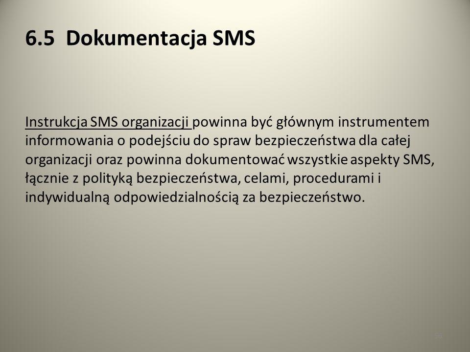 6.5 Dokumentacja SMS
