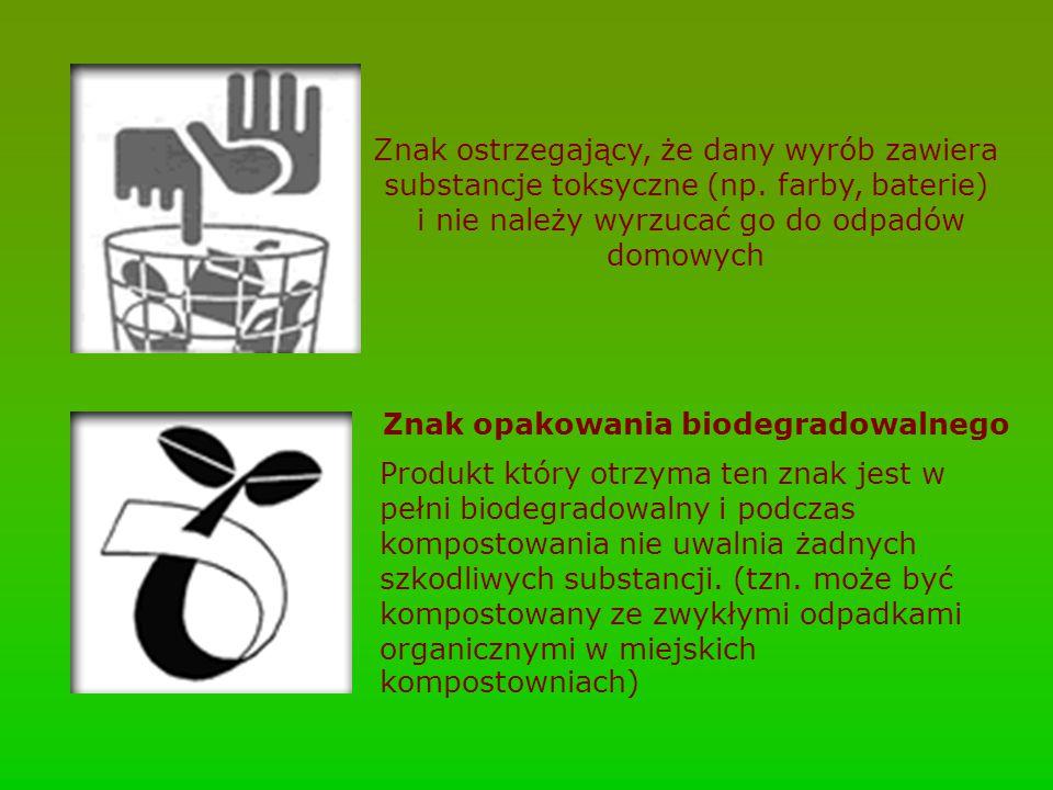 Znak opakowania biodegradowalnego