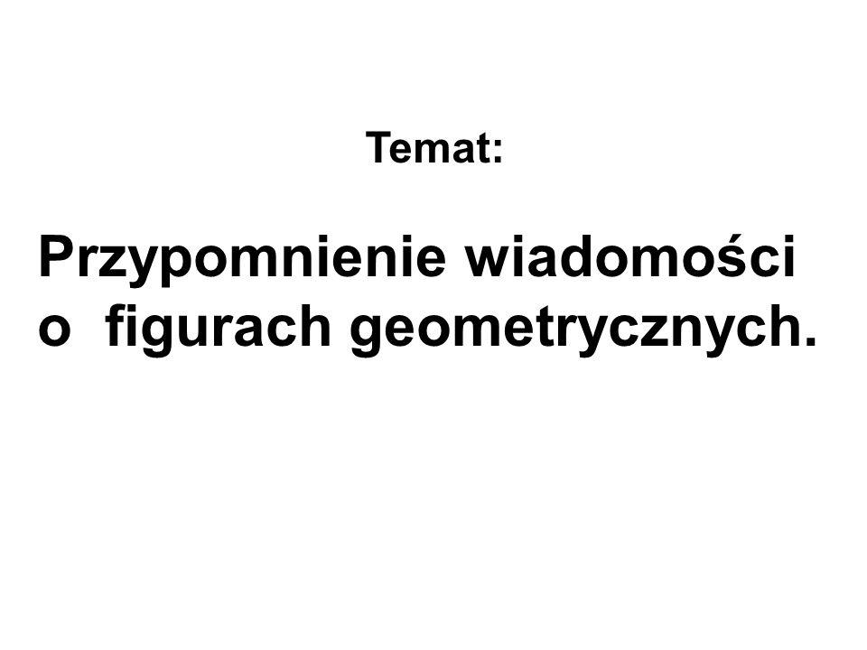 Przypomnienie wiadomości o figurach geometrycznych.