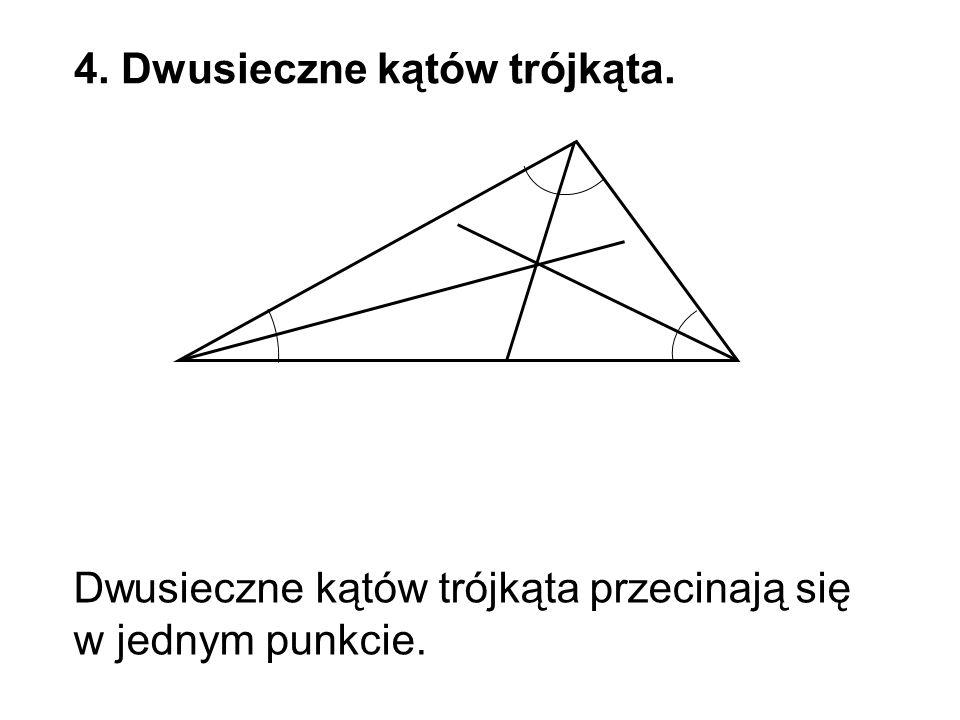 4. Dwusieczne kątów trójkąta.