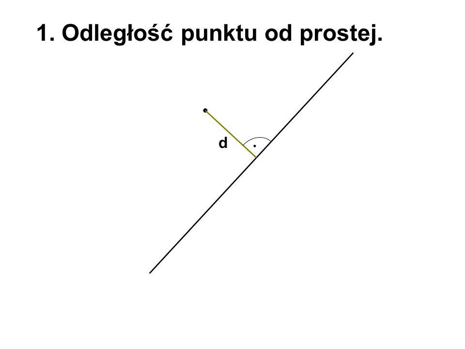 1. Odległość punktu od prostej.