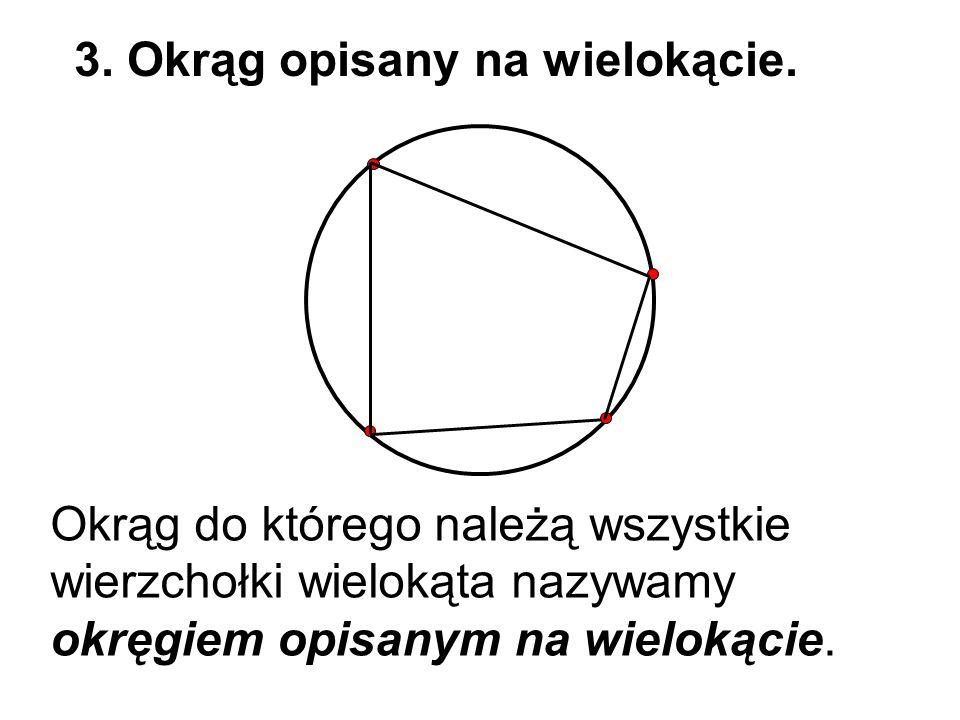 3. Okrąg opisany na wielokącie.