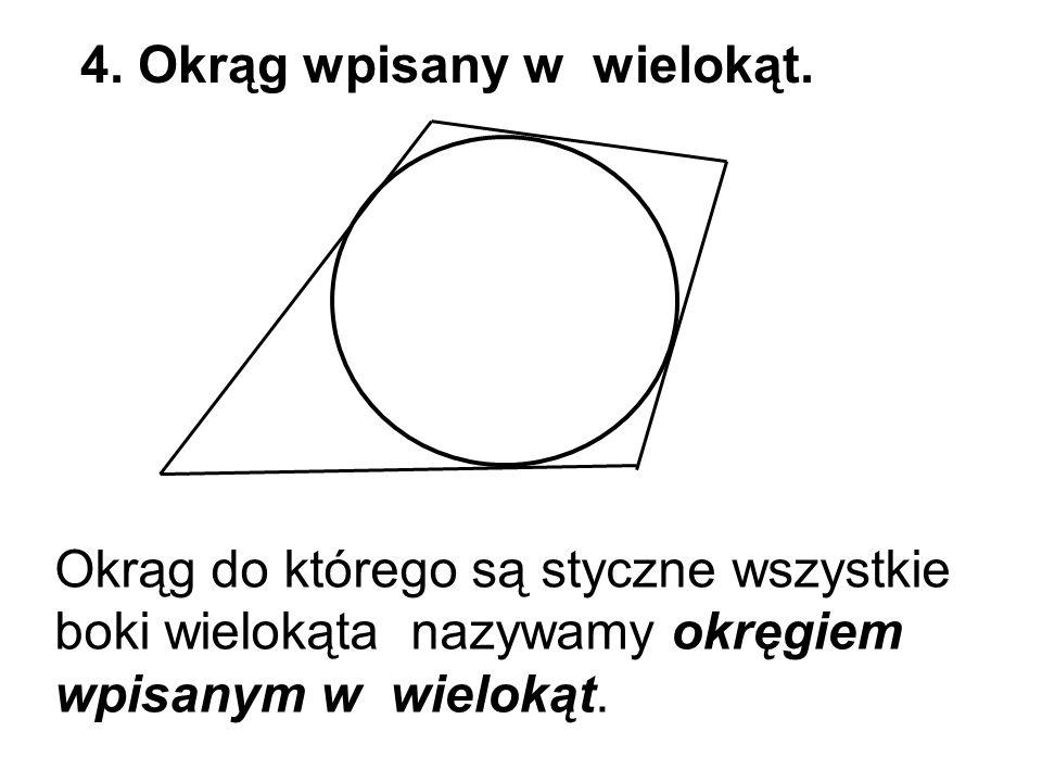 4. Okrąg wpisany w wielokąt.