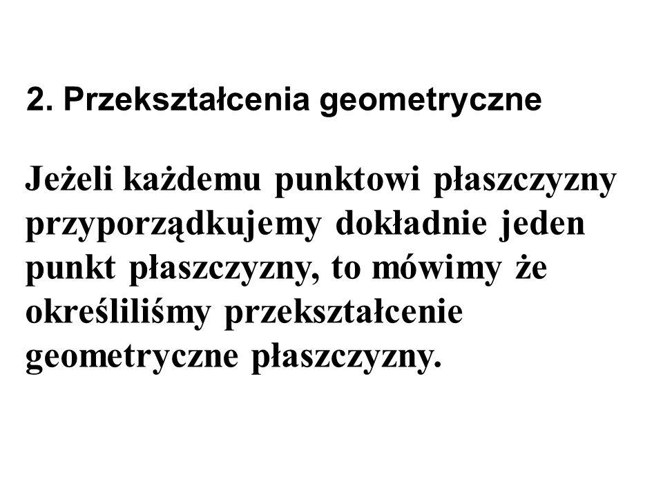 2. Przekształcenia geometryczne