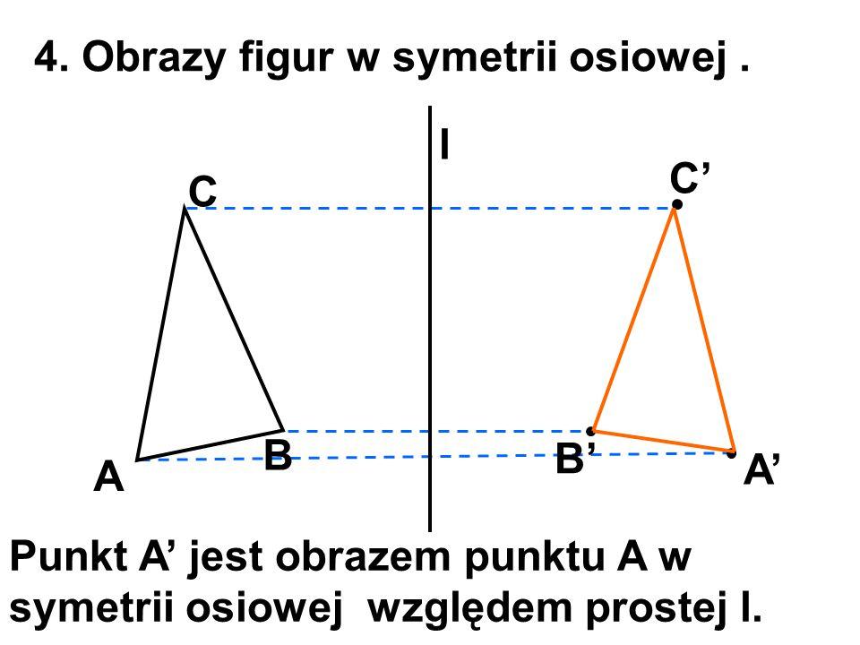 4. Obrazy figur w symetrii osiowej .