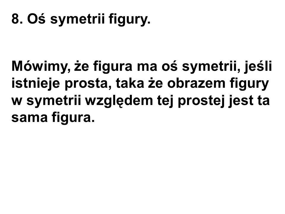 8. Oś symetrii figury.