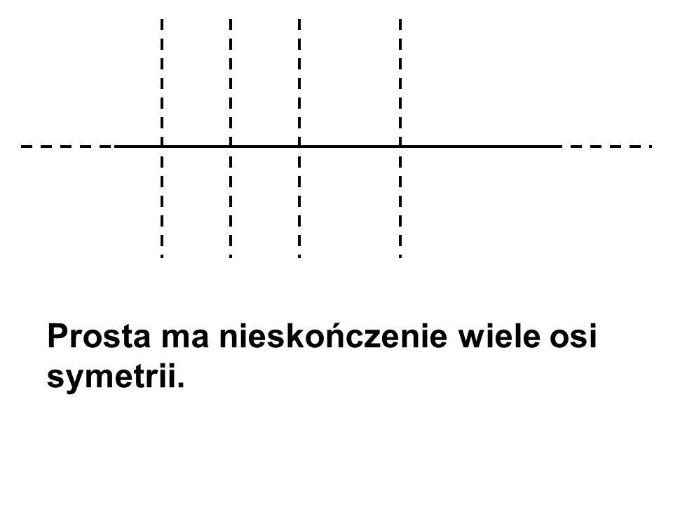 Prosta ma nieskończenie wiele osi symetrii.