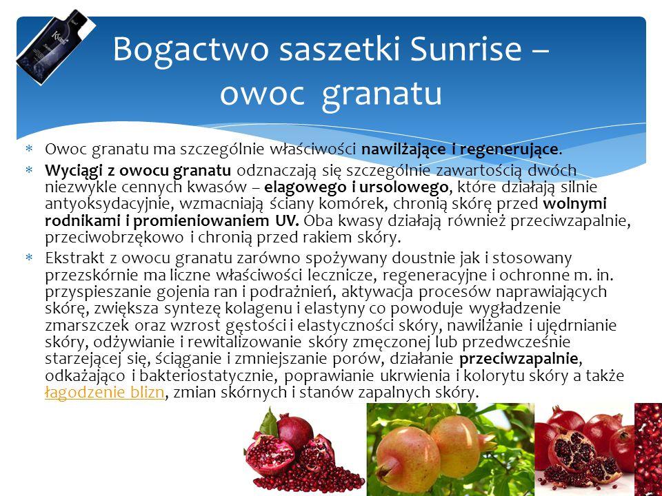 Bogactwo saszetki Sunrise – owoc granatu