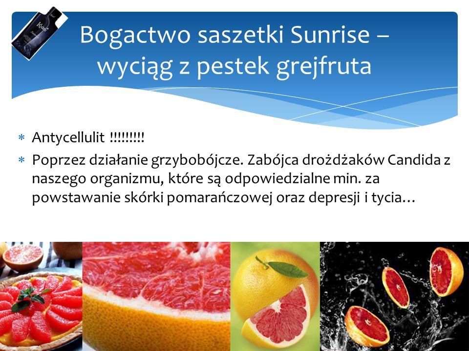 Bogactwo saszetki Sunrise – wyciąg z pestek grejfruta