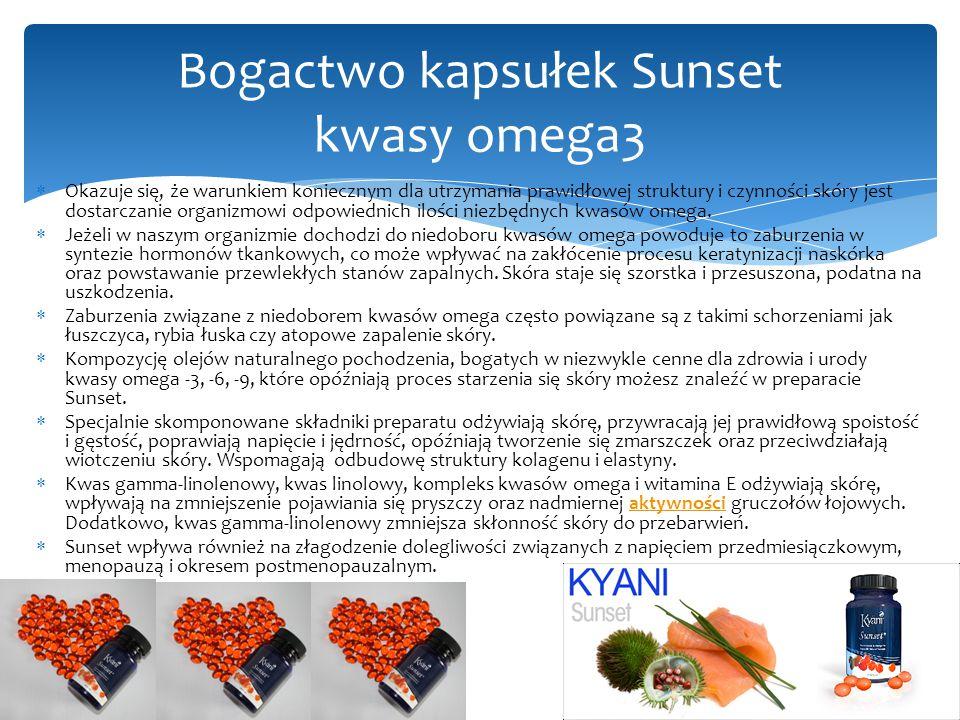Bogactwo kapsułek Sunset kwasy omega3