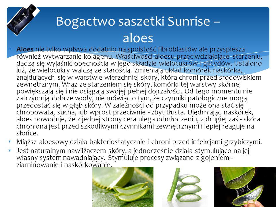 Bogactwo saszetki Sunrise – aloes