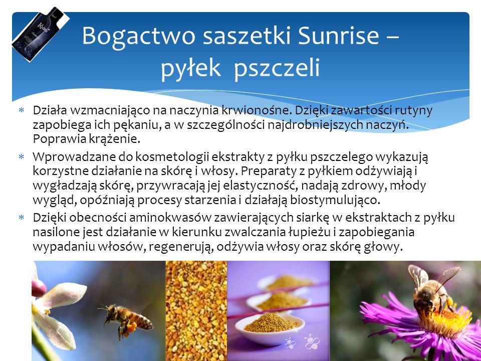 Bogactwo saszetki Sunrise – pyłek pszczeli