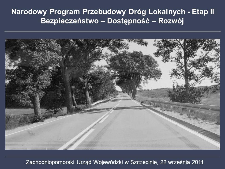 Narodowy Program Przebudowy Dróg Lokalnych - Etap II Bezpieczeństwo – Dostępność – Rozwój