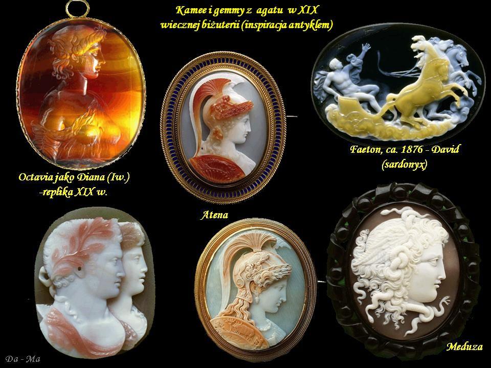 Kamee i gemmy z agatu w XIX wiecznej biżuterii (inspiracja antyklem)