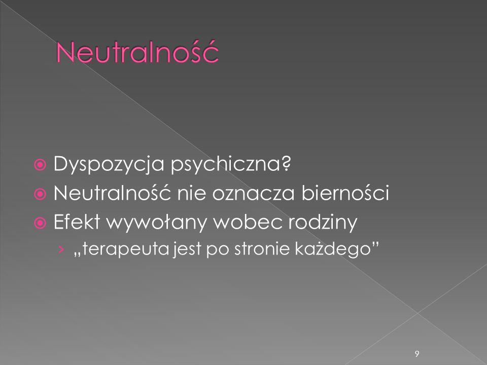Neutralność Dyspozycja psychiczna Neutralność nie oznacza bierności
