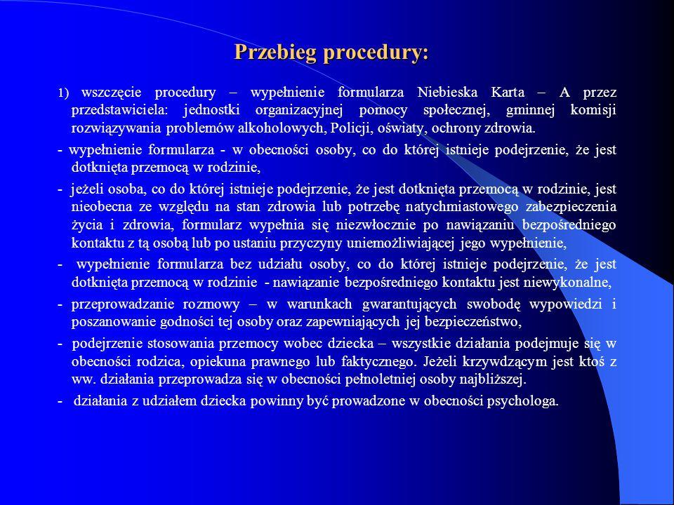 Przebieg procedury: