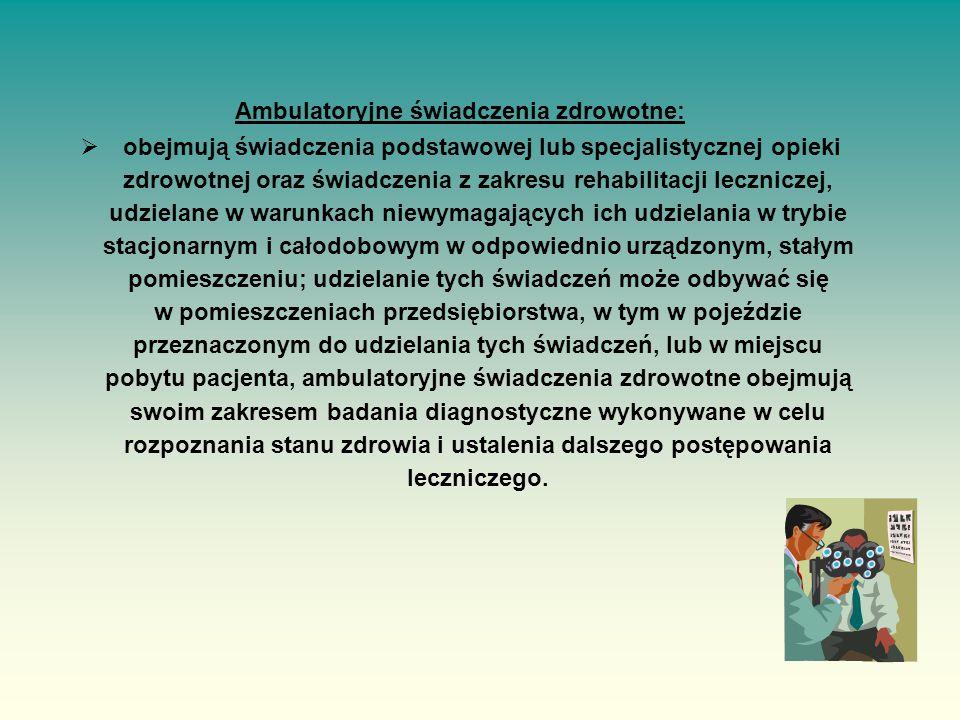 Ambulatoryjne świadczenia zdrowotne: