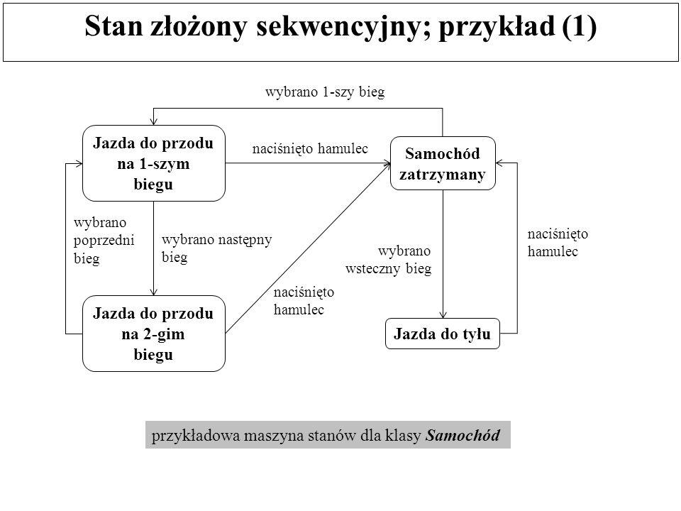 Stan złożony sekwencyjny; przykład (1)