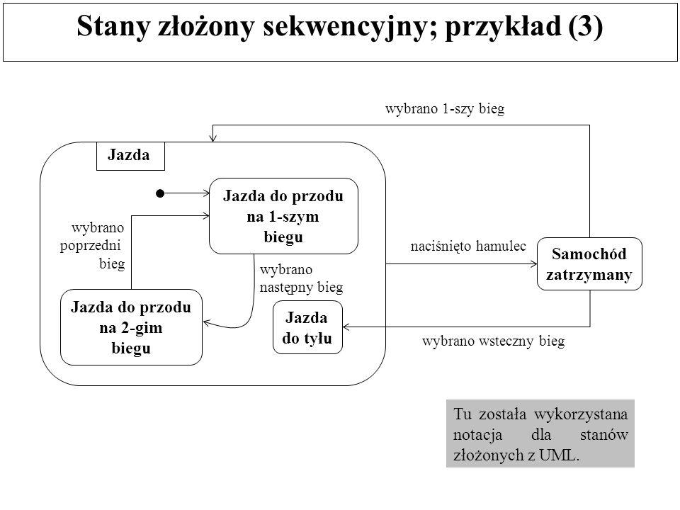 Stany złożony sekwencyjny; przykład (3)