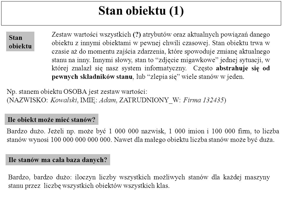 Stan obiektu (1)